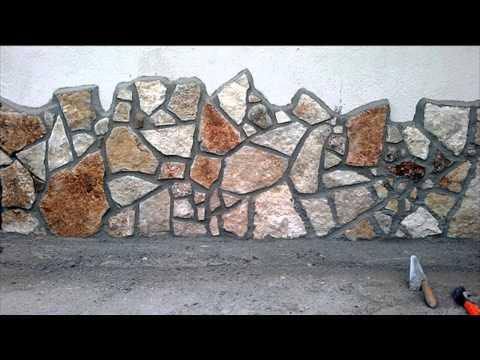 Rivestimento di un muro con la scorza di trani (uno dei miei tanti ...