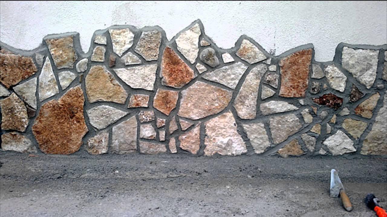Rivestimento di un muro con la scorza di trani uno dei for Case con verande tutt attorno