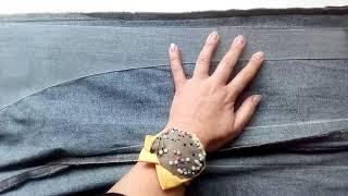 Как заузить джинсы (+ укоротить)