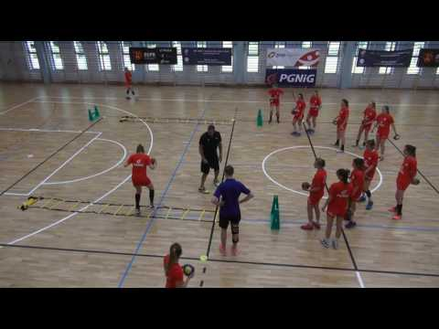 Condition and coordination exercises combined with shots by EHF Lecturer Peter Kovacs