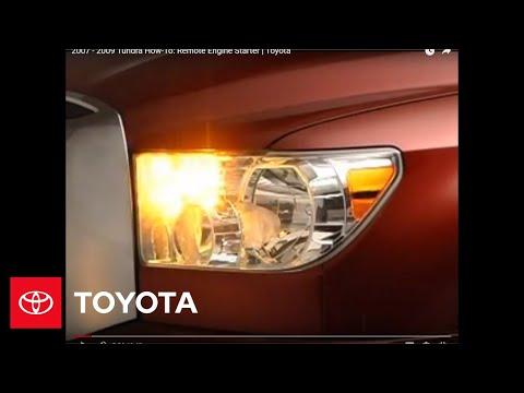 2007 - 2009 Tundra How-To: Remote Engine Starter | Toyota