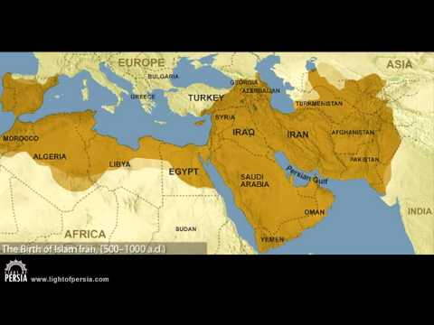 Map of Ancient Persia to Iran