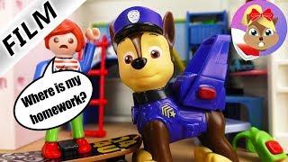 Playmobil Film polski | PAW PATROL u WRÓBLEWSKICH! CHASE POMAGA JULIANOWI W OBOWIĄZKACH DOMOWYCH!
