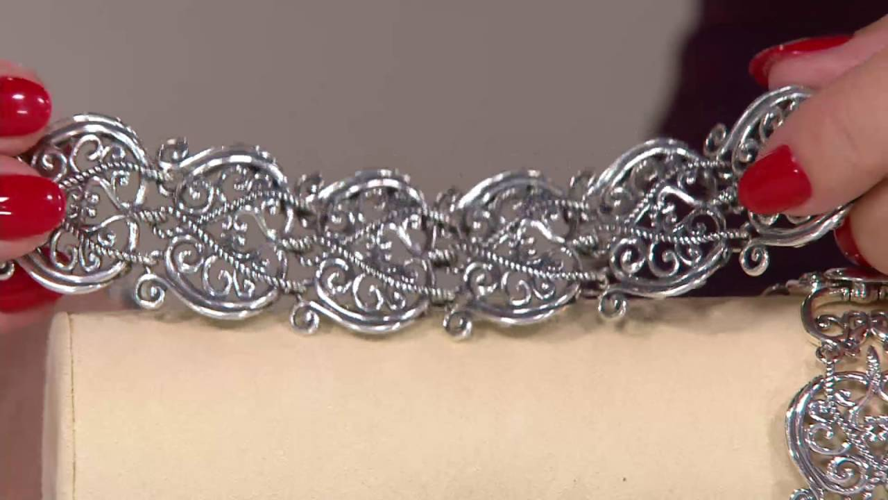 Carolyn Pollack Signature Sterling Link Bracelet On Qvc