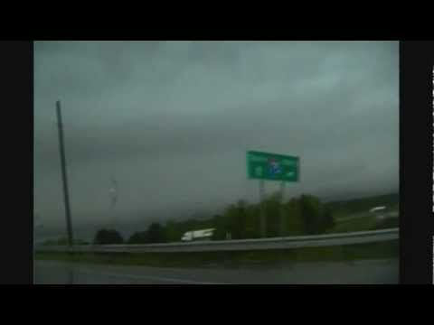 Funnel and damage in Hancock County, Ohio--May 25, 2011 stormchase