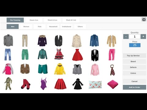 Quick Dry Cleaning Software Introduction and Demonstration 2017