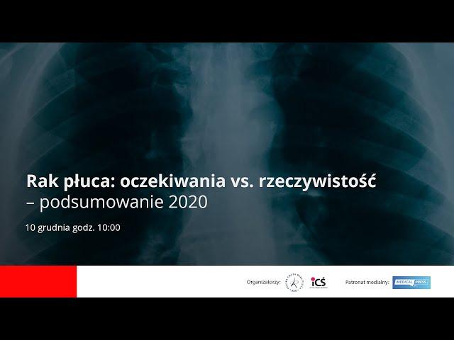Rak płuca: oczekiwania vs rzeczywistość - podsumowanie roku 2020