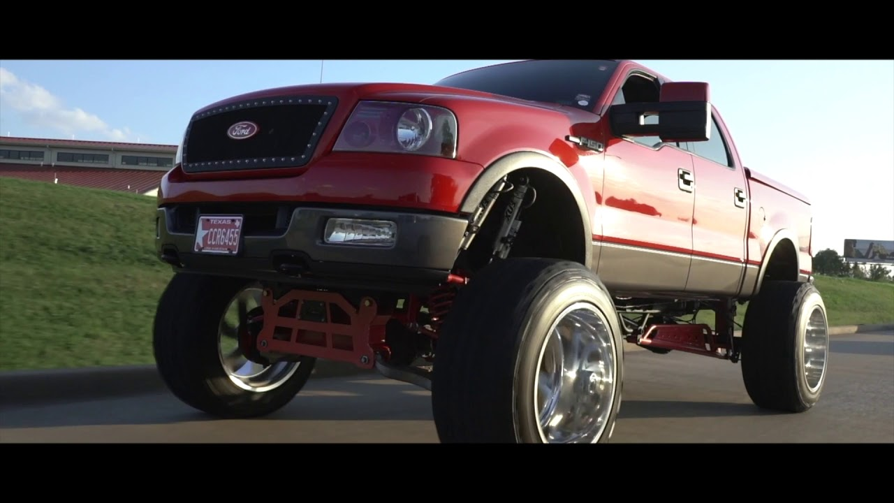 4 Inch Lift >> HUGE 2004 F150 with a 15 inch lift and 24x16 Fuel Forged wheels and 40s! - YouTube
