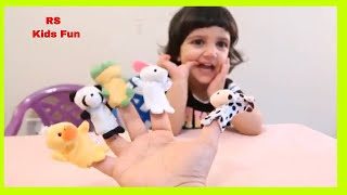 Baby singing Finger Family song of Puppet Animals with mummy/Animal finger Family Song forChildrens