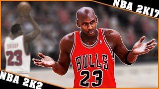 MICHAEL JORDAN gameplay evolution [NBA 2K2 - NBA 2K17] 🏀