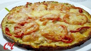 Пицца из Кабачков. Сочная,Вкусная! / Zucchini pizza