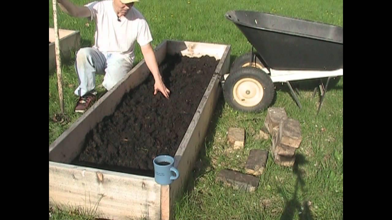 making garden soil and hardening