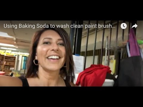 Using Baking Soda to wash clean paint brushes and wine glasses!