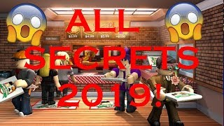 ROBLOX WORK AT A PIZZA PLACE ALL SECRETS 2019!!