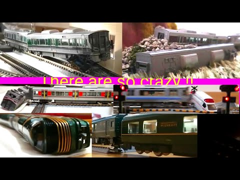 鉄道模型 Nゲージ 大事故・ハプニングシーン集 2019 Model Train N Gauge Large Accident / Happening Scene Collect