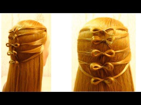 прически на длинные волосы для девочек на 1 сентября