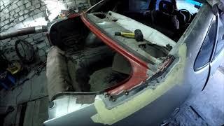 ремонт кузова Opel Vectra A.Рамка заднего стекла
