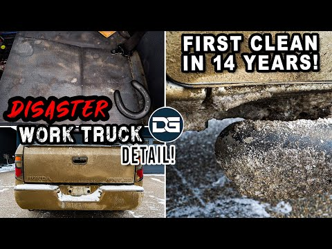 Deep Cleaning a DISASTER Work Truck! | INSANE Detailing Transformation and Owner Reaction!