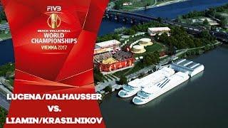Lucena/Dalhausser (USA) v Liamin/Krasilnikov (RUS) - FIVB Beach Volley World Champs