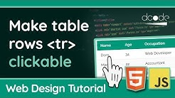 Make your table rows clickable (with a link) - Web Design Tutorial