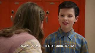 young sheldon first day at school (English subtitles)