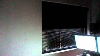 Motorized Media Room Blackout Shades Blinds Somfy