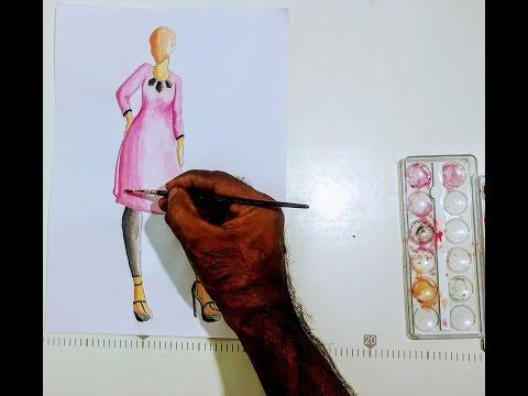 Basic Fashion Sketch Diy Tutorial Basic Fashion Sketch And Painting