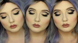 Winged Graphic Eyeliner Makeup Ménage à Trois Tutorial | Jordan Hanz