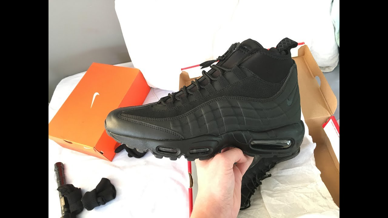 best authentic 7f2b0 78b04 NIKE AIR MAX 95 SNEAKERBOOT UNBOXING