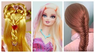 Barbie Doll Hairstyles 👰 How To Make Barbie Hairstyle 👸 Barbie Hair Transformation