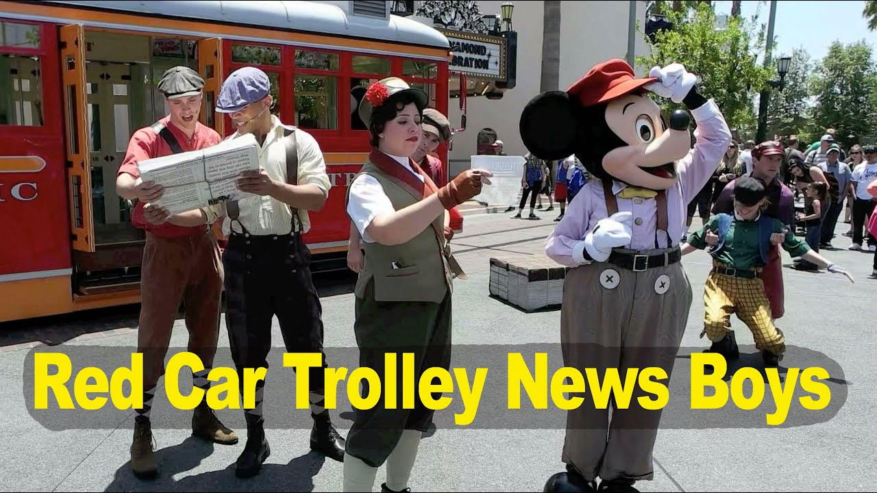 Red Car Trolley News Boys at Disney California Adventure (May 27, 2016)