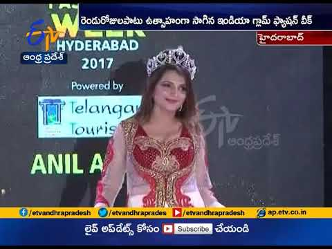 Models Ramp Walk   Draws Attention at India Glam Fashion Week   in Hyderabad