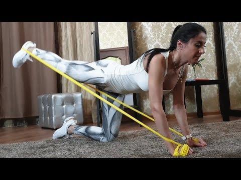 Упражнения с ленточными эспандерами для мужчин и для девушек