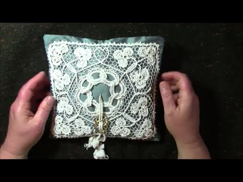 Irish Crochet Lace a Wedding Ring Cushion YouTube