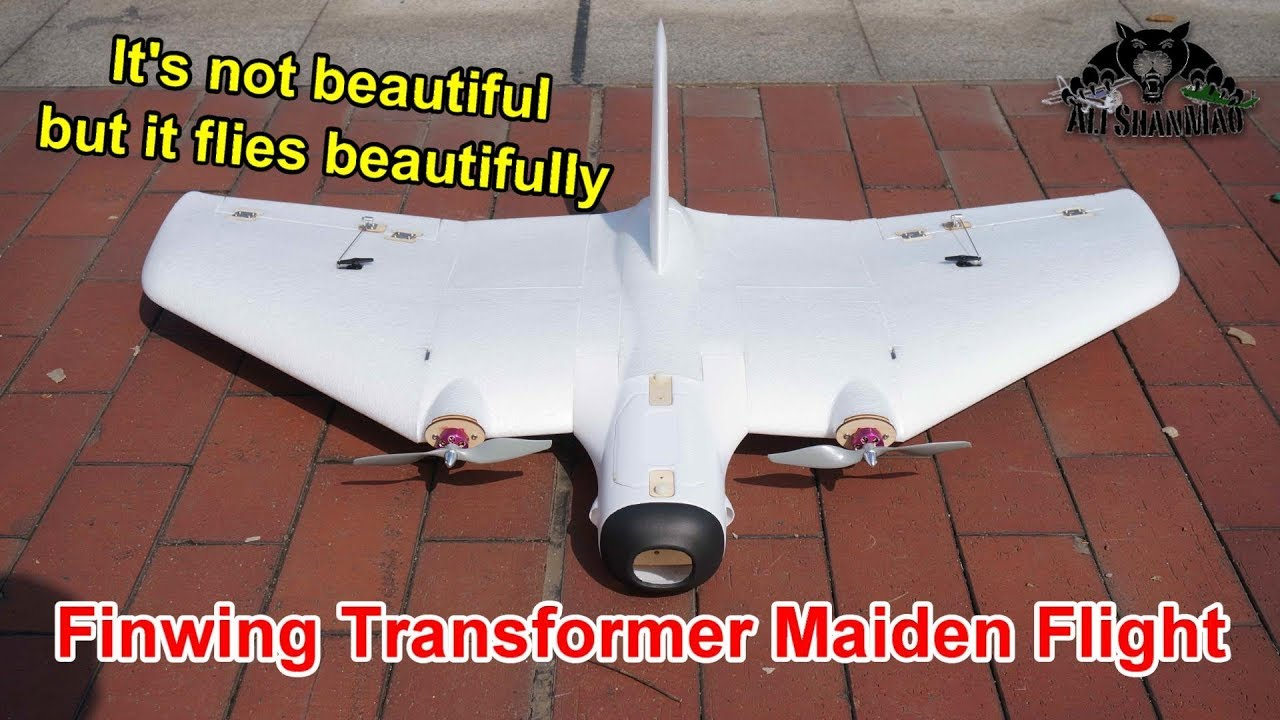 Finwing Transformer Long Range FPV Flying Wing Maiden Flight Testing