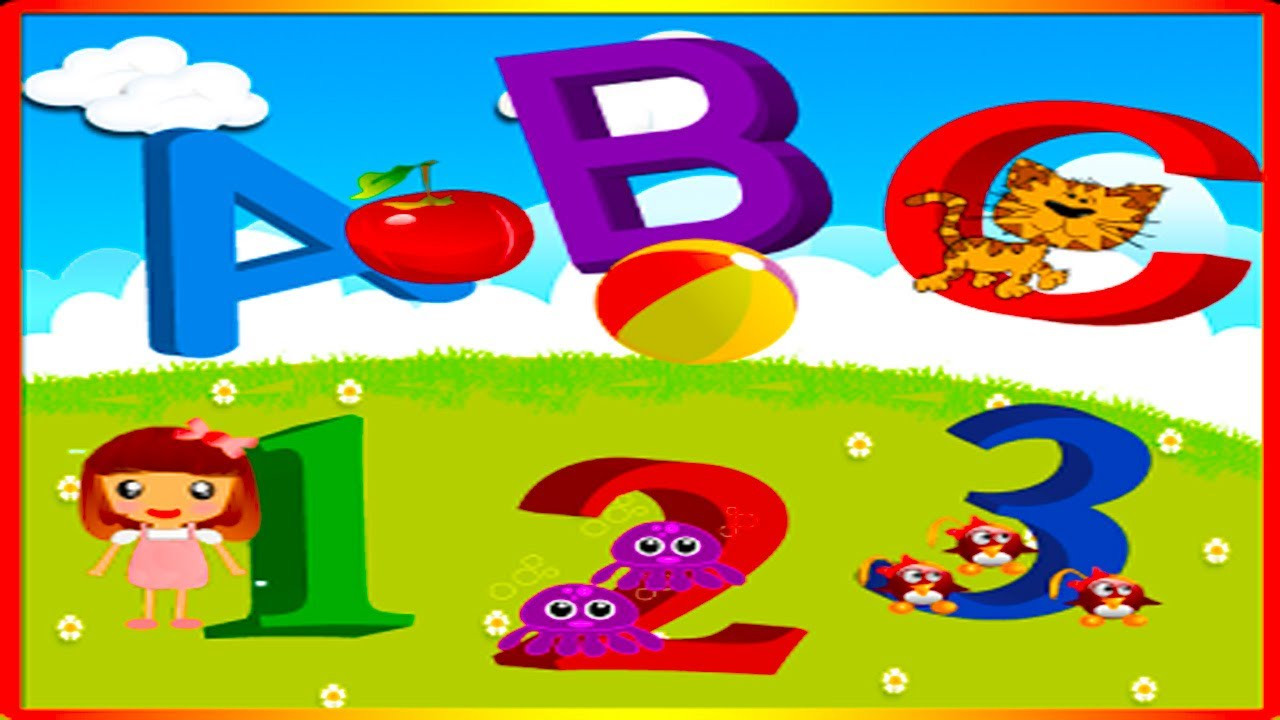 Alphabet ABC Games Kids Learn colors ABC flash card from A to Z for ...