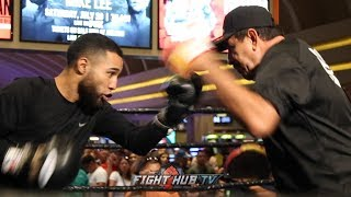LUIS NERY SHOWS OFF INHUMAN SPEED AT THE PACQUIAO VS THURMAN UNDERCARD OPEN WORKOUT!