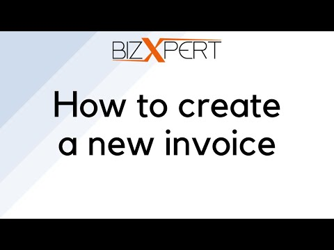 How to create a new invoice - Tutorial - BizXpert Invoice
