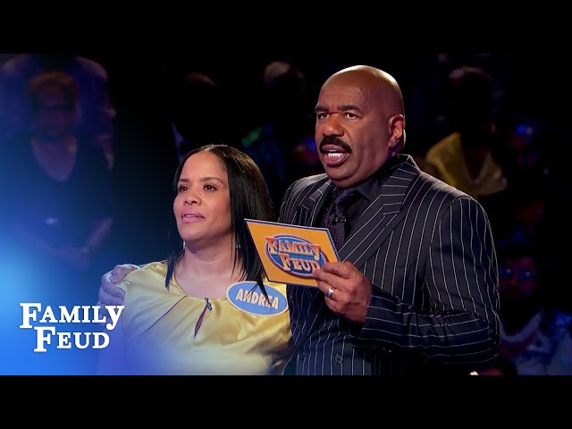 The Angelinis take on Fast Money!   Family Feud