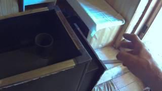видео Как правильно установить печь в бане своими руками, установка печи с выносной топкой