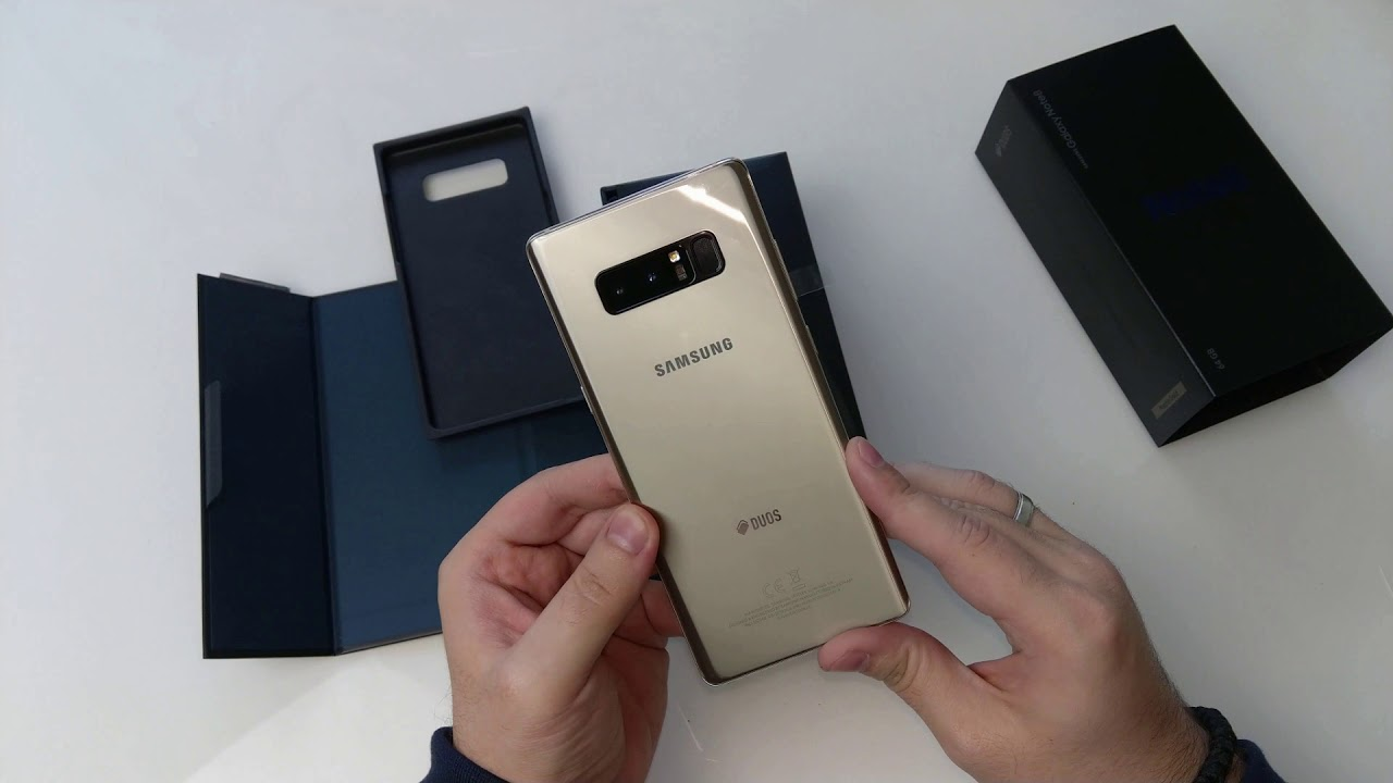 Samsung Galaxy Note8 in Maple Gold ausgepackt - YouTube 0621ba59dd30