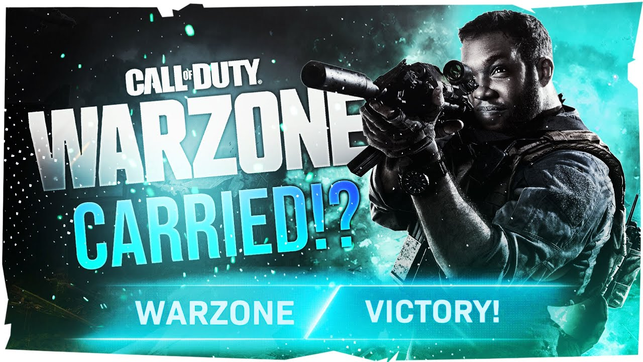 I GOT CARRIED TO A DUB ON WARZONE!!!!