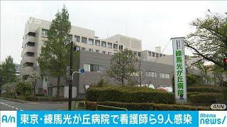 練馬光が丘病院で看護師ら9人感染 院内で拡大か(20/04/21)