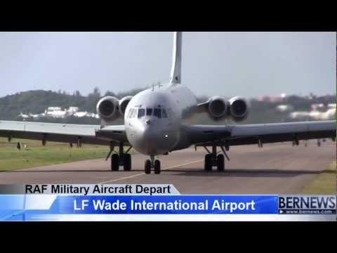 RAF Military Aircraft Depart Bermuda, Jan 23 2013