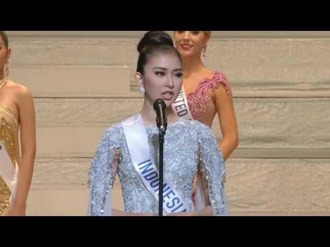 WINNING ANSWER & SPEECH of Miss Indonesia as Miss International 2017 (FULL HD)