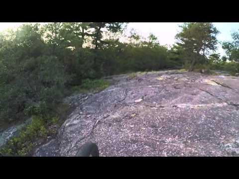 Rocky technical mountain bike trail in Fells