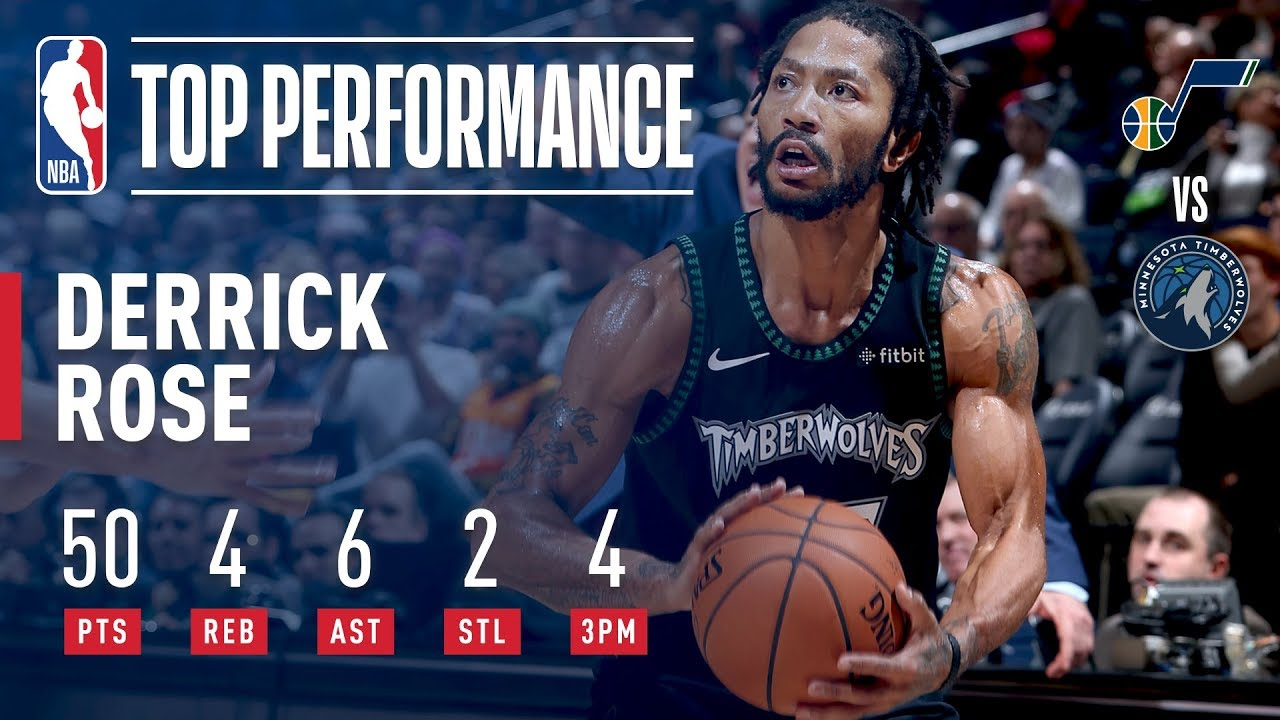 f8d43951e Derrick Rose Records A New CAREER HIGH 50 Points In Emotional Victory