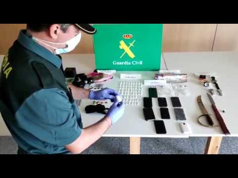 Objetos incautados en el operativo desplegado en O Vao