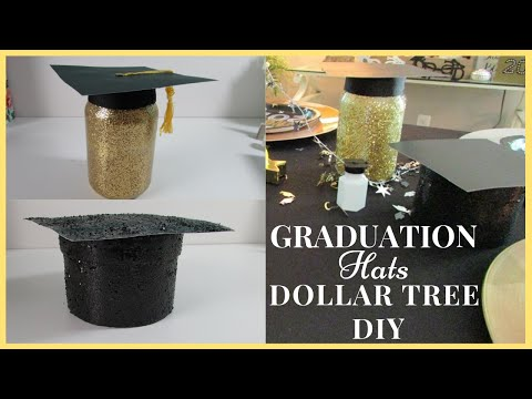 GRADUATION HATS DOLLAR TREE DIY | SUPER SIMPLE