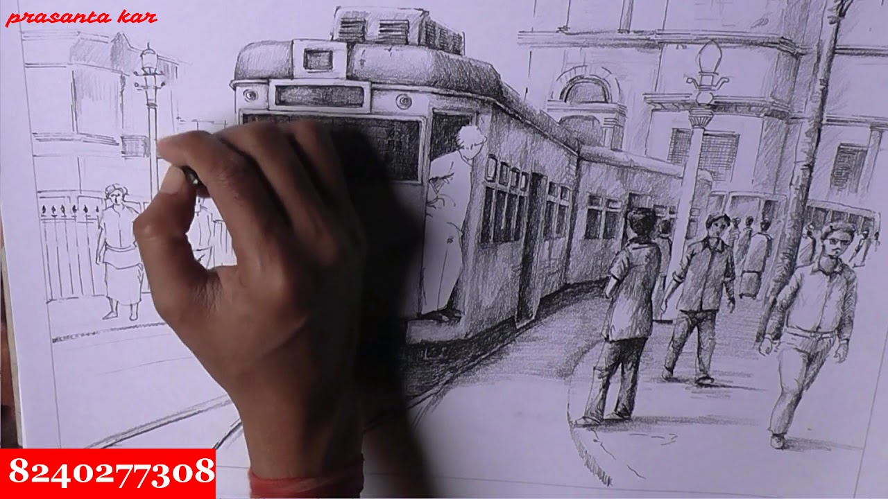 How to draw train with pencil shading techniques pencils for sketching and shading